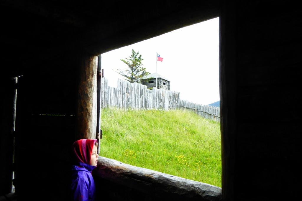 Vista de la casa fuerte desde el taller de carpinteros ingleses