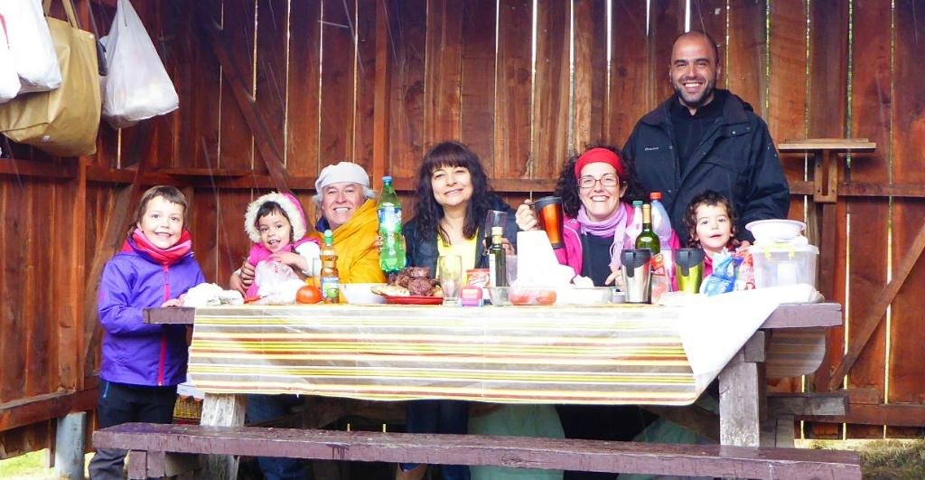 Jana, Maite, Samuel, Marcela, Sílvia, Xose y Bruna