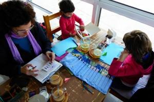 Dibujando en el Imago (Costanera de Punta Arenas)
