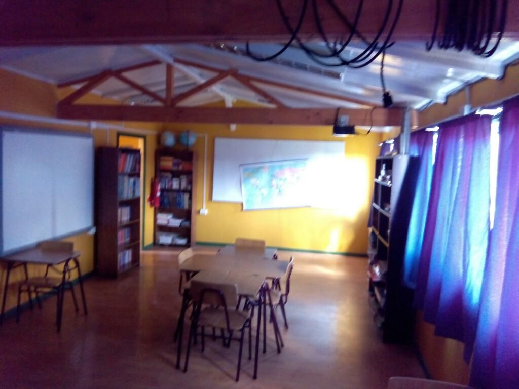 El aula de la escuela G44 de Puerto Toro