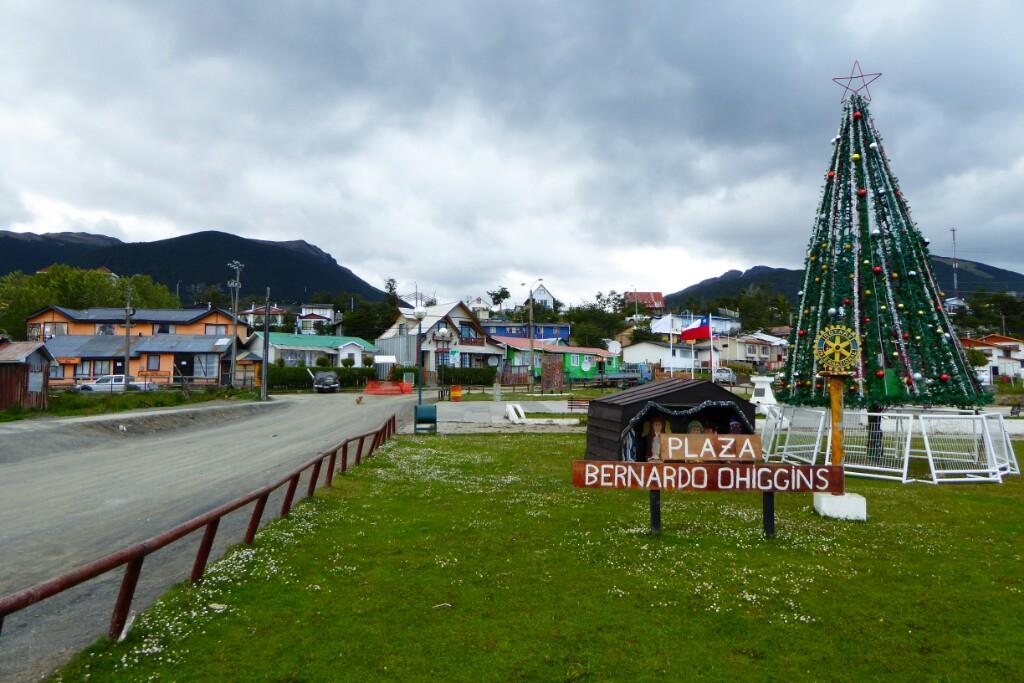 La Plaza O'Higgins es el centro del pueblo