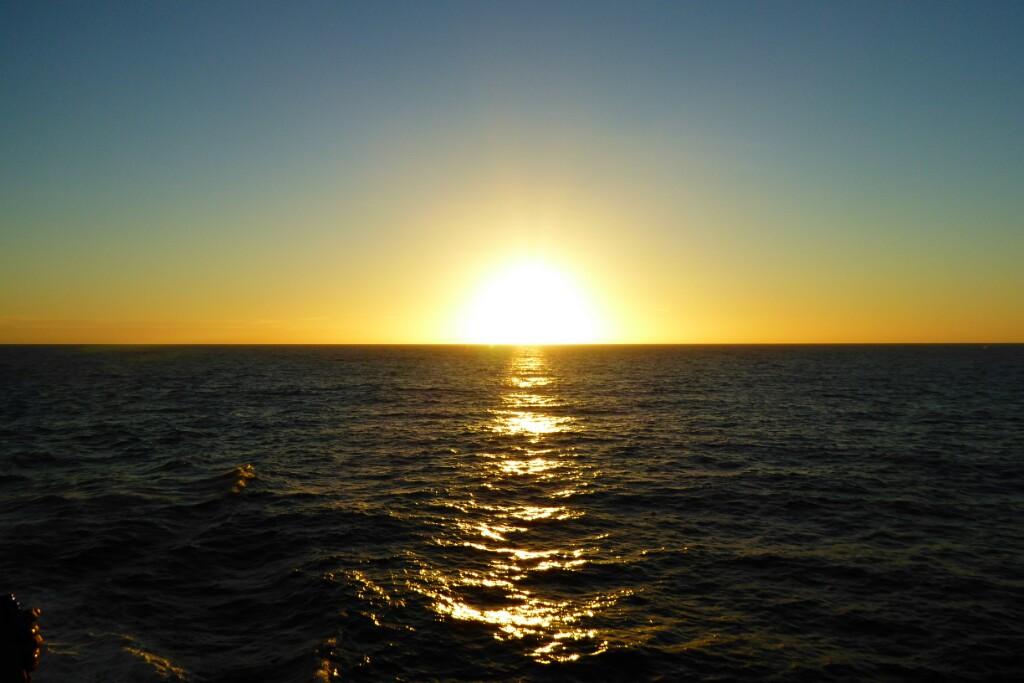 A nosotros en cambio nos regaló con puestas de sol emocionantes