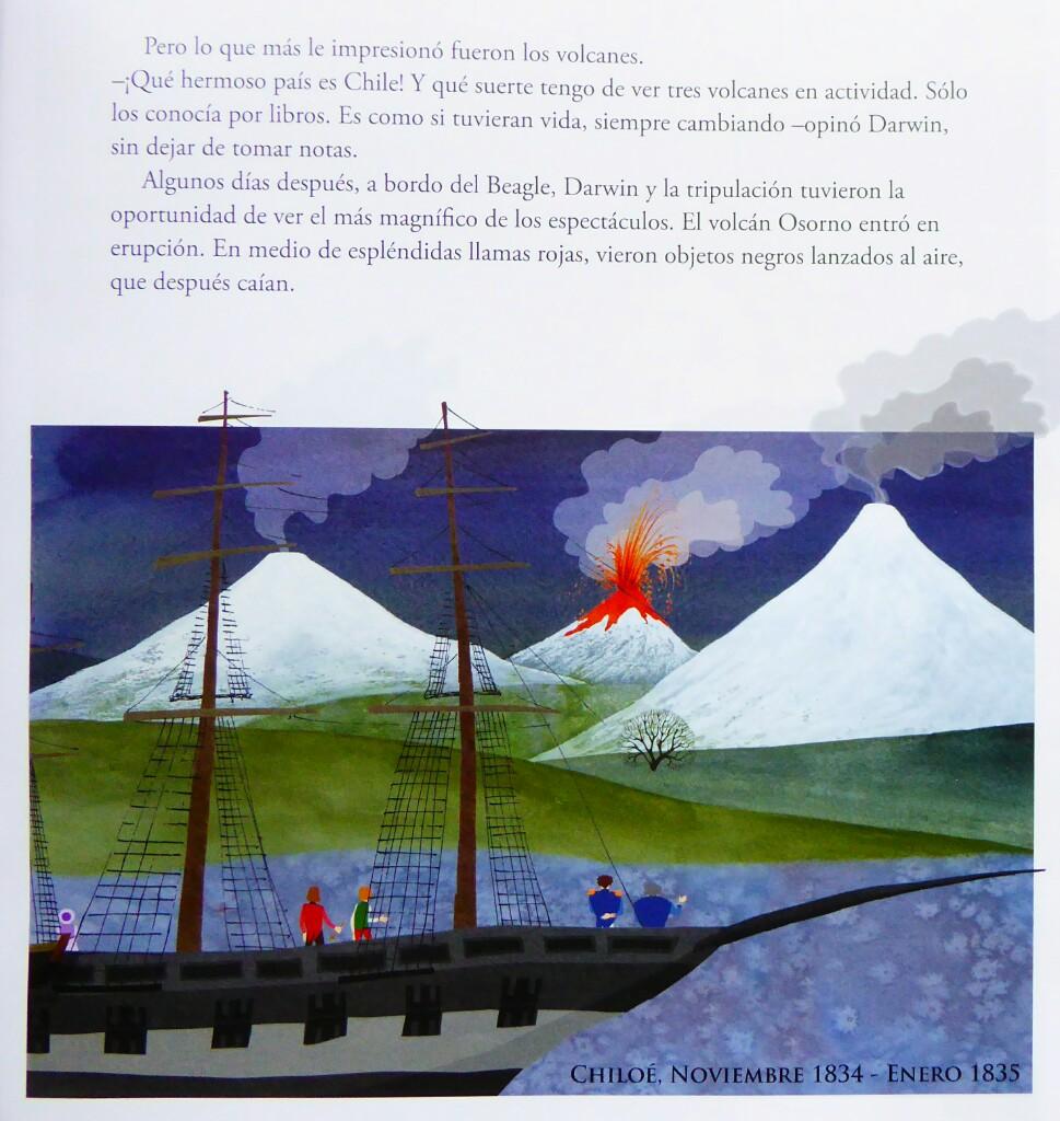 Darwin presenció la explosión del Osorno de 1834