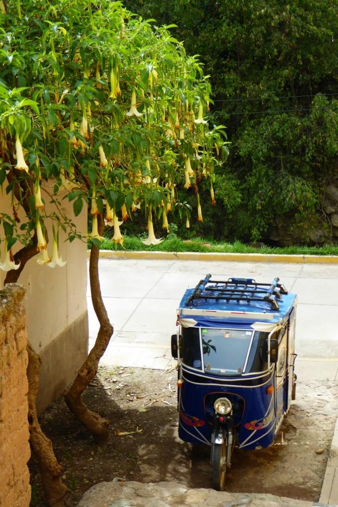El mototaxi es el principal medio de transporte público en Ollanta y en todo el Valle Sagrado