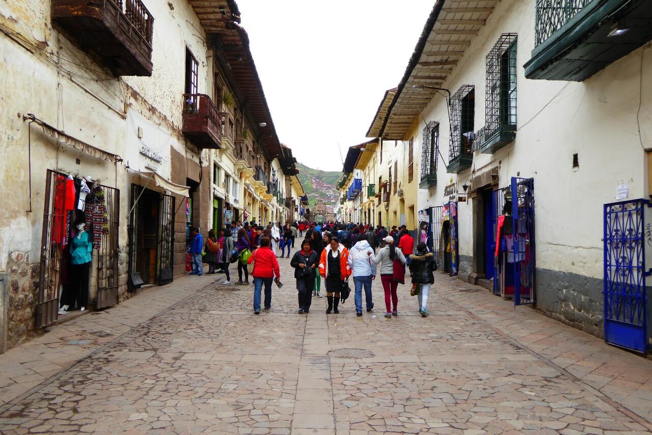 La calle Márquez transcurre sobre uno de las 4 caminos que, desde la plaza de armas, comunicaban con los extremos del imperio