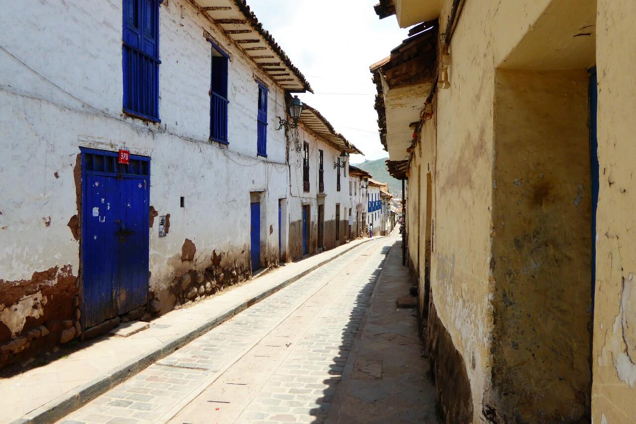 Las casas en la calle del hostal respiran un aire a pueblo muy característico de Cusco