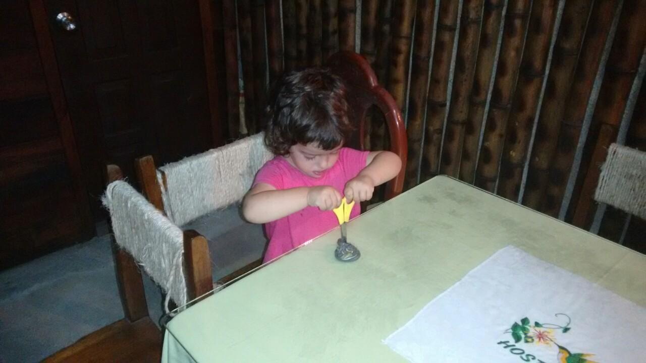 Al día siguiente la parapetamos para evitar más sustos (teníamos que coger el bus a Guayaquil sí o sí)