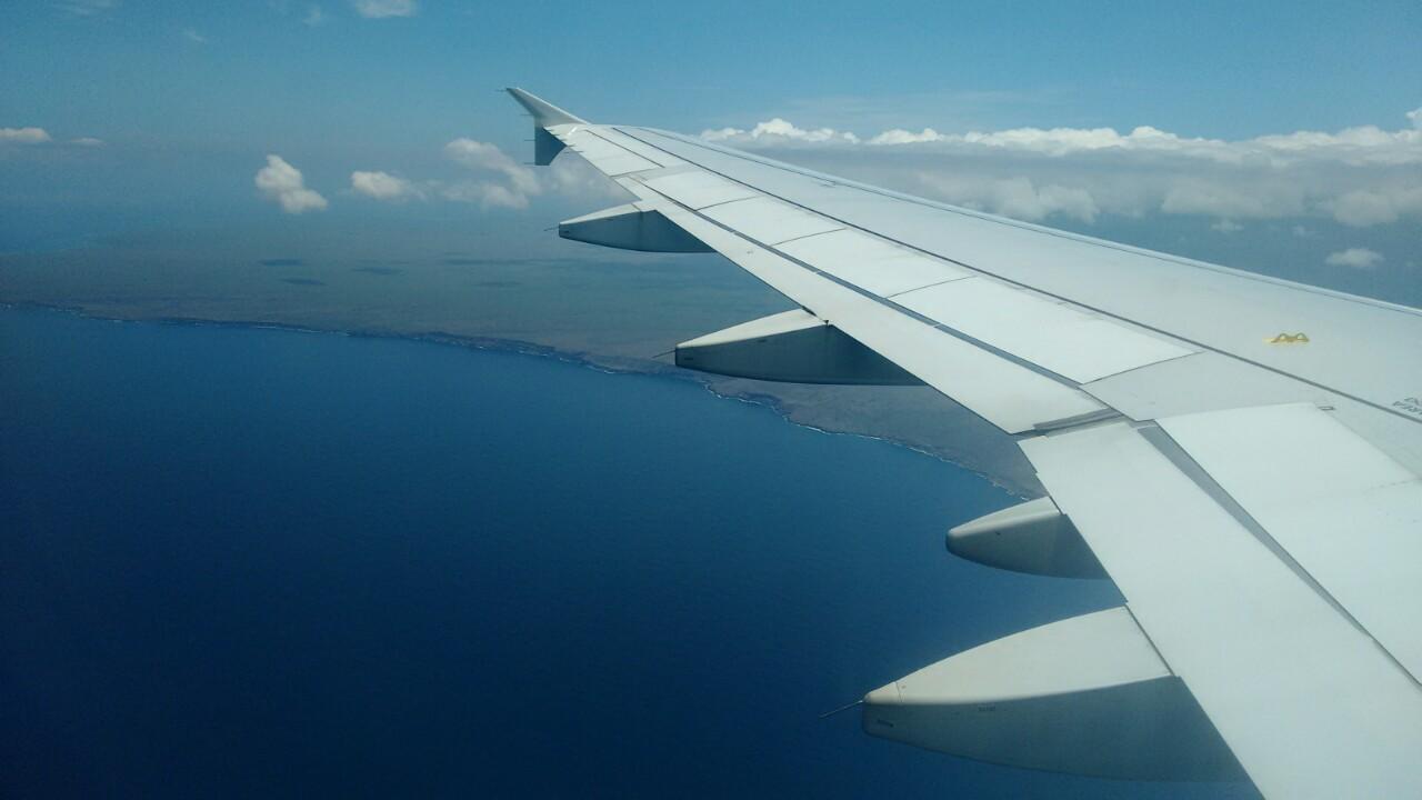 Sobrevolando las Galápagos
