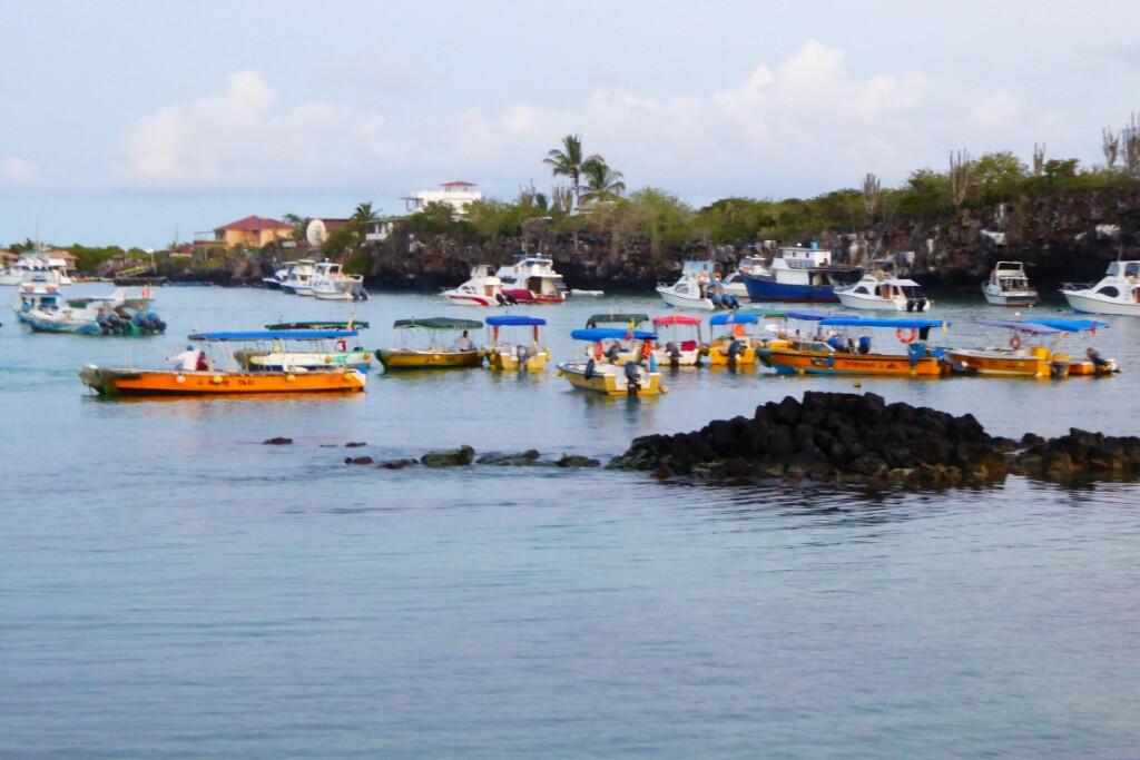 Taxis en el puerto de Puerto Ayora