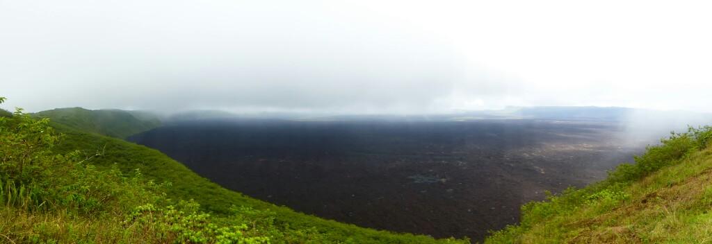 La impresionante caldera del Sierra Negra