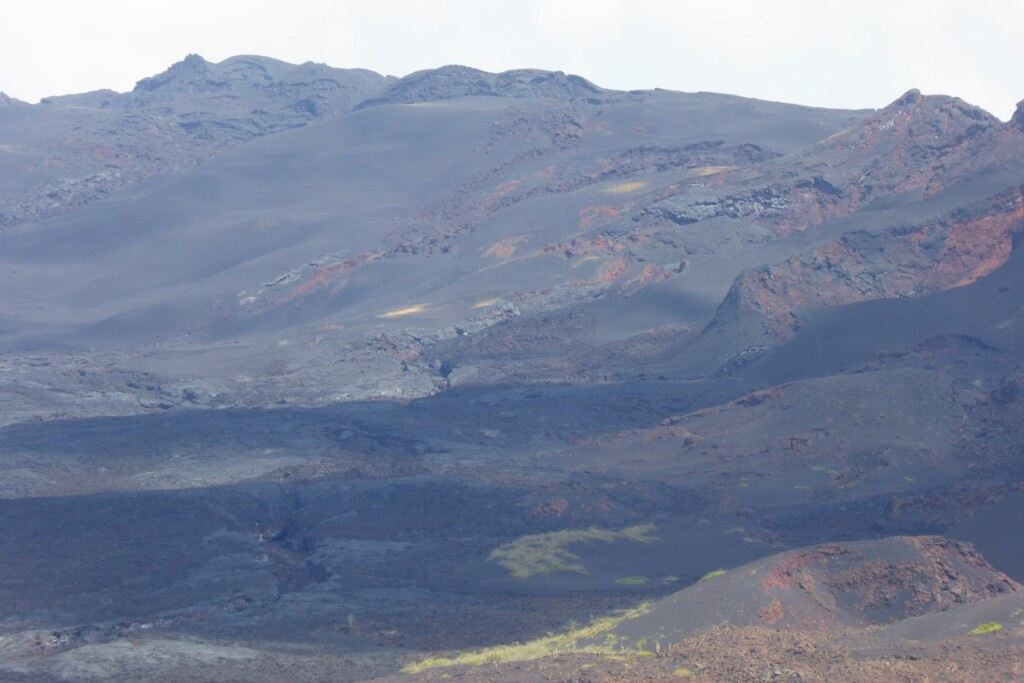 Detalle de la zona donde se produjo la erupción en 2005